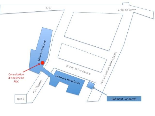 Plan anesthésistes - Centre Biliaire Interventionnel et Pancréatique Paris Sud