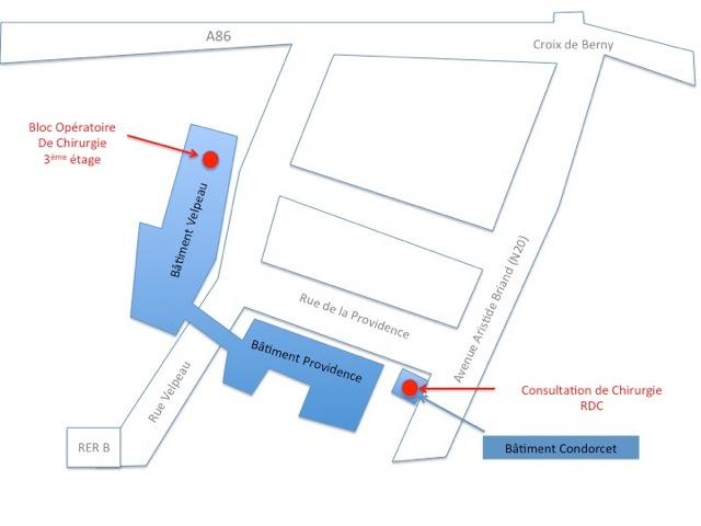 Plan Chirurgiens digestifs - Centre Biliaire Interventionnel et Pancréatique Paris Sud