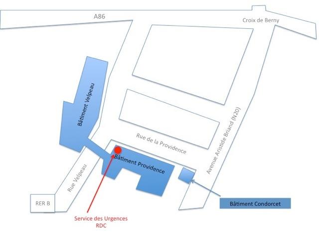 Plan urgences - Centre Biliaire Interventionnel et Pancréatique Paris Sud